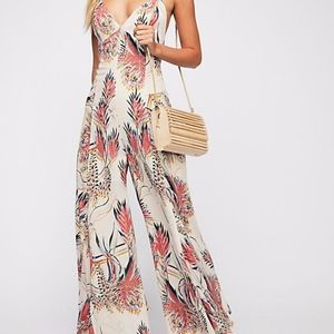 Free People Alissa Printed Jumpsuit